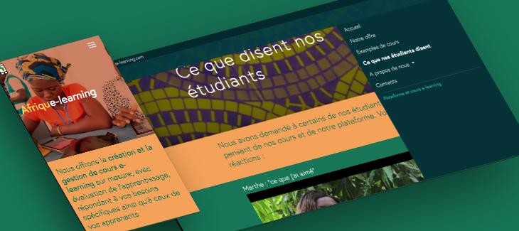 Afrique-learning responsive website