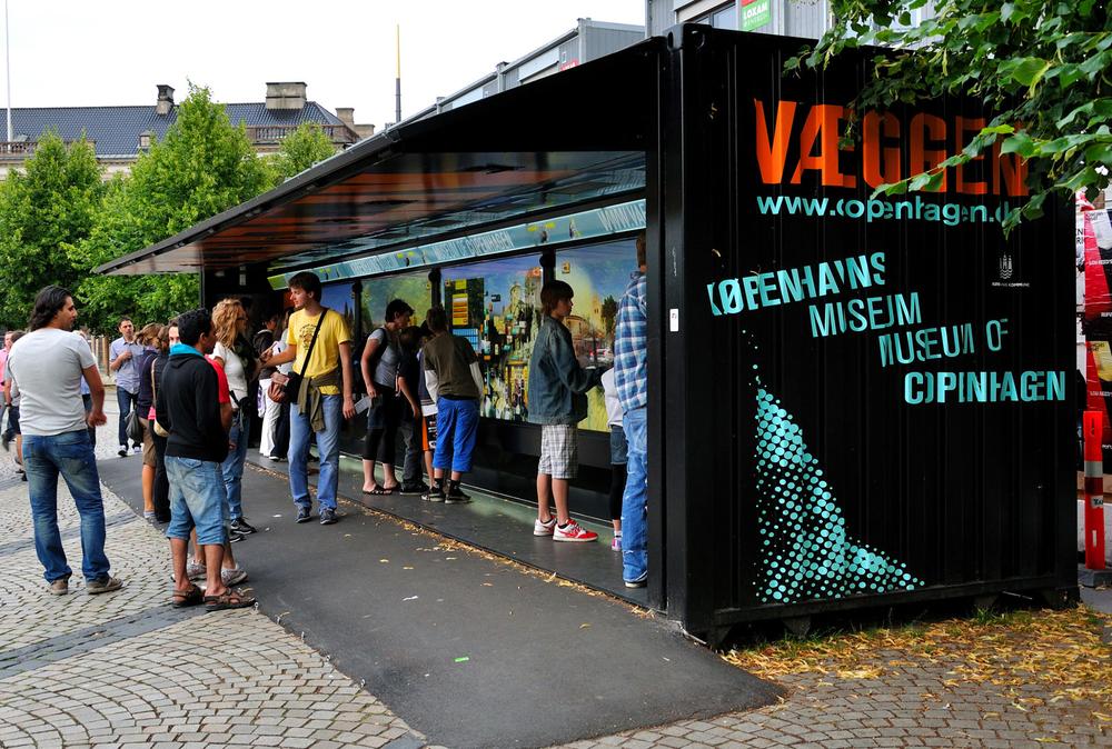The Væggen touch wall in Copenhagen